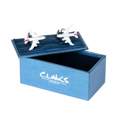 Commercial Jet Plane Cufflinks in Colour