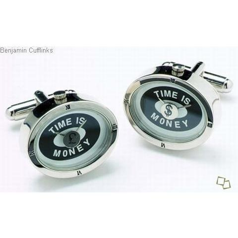 Time is Money Cufflinks