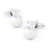 Silver Apple Cufflinks