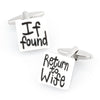 If found Return to Wife Cufflinks