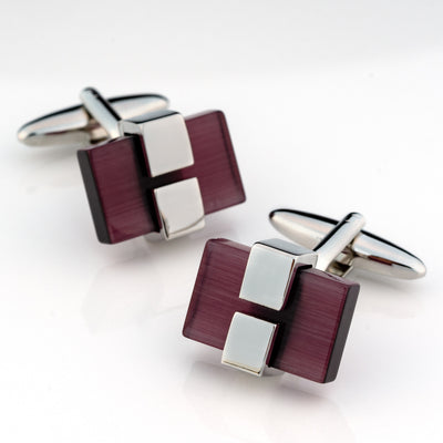 Charcoal Ice Cateye Cufflinks