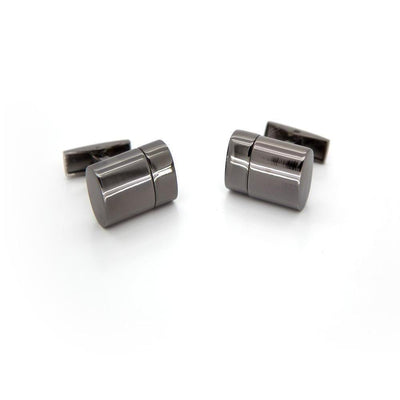 Working USB Cufflinks 32Gb Oval Flash Drive in Gunmetal