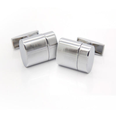 Working USB Cufflinks 32Gb Oval Flash Drive in Silver