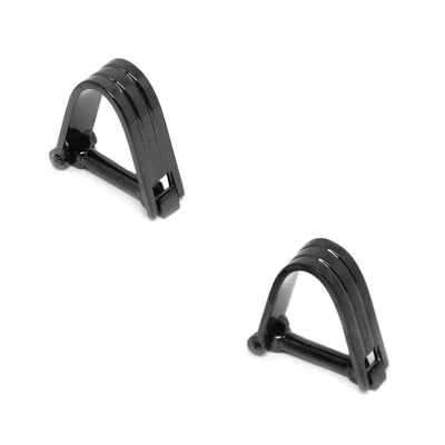 Wrap Around Black Groove Cufflinks