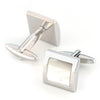 Mother of Pearl in Silver Square Cufflinks