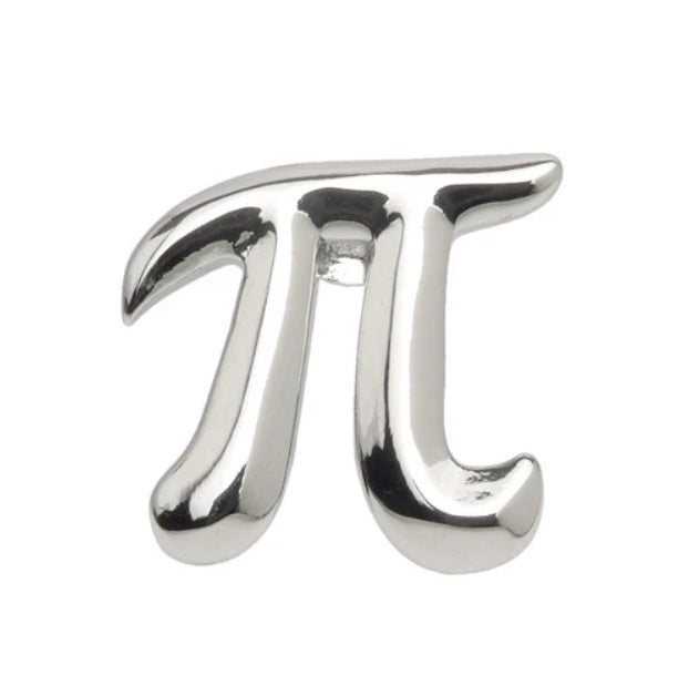 Pi Lapel Pin in Silver