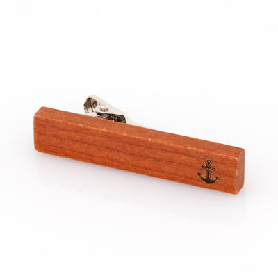 Wood Anchor Stamp Tie Clip