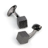 Gunmetal Diamond Textured Cube Cufflinks
