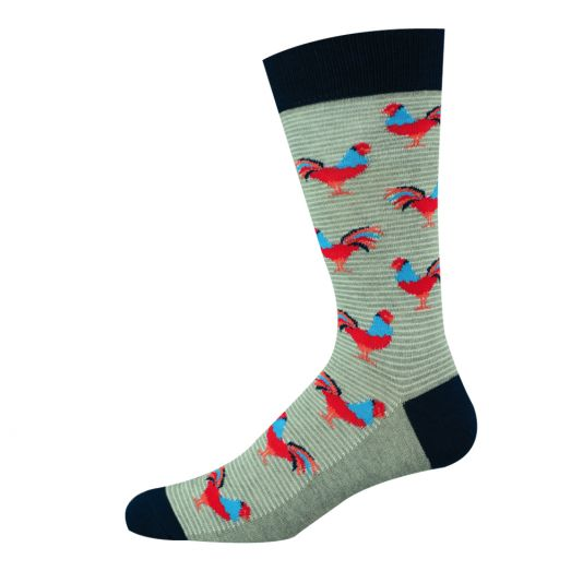 Mens Lookin' Good Rooster Sock