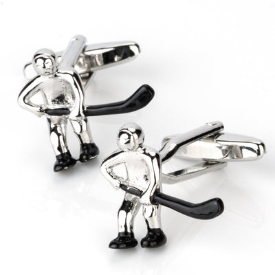 Ice Hockey Player Cufflinks