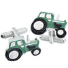 Green Farm Tractor Cufflinks