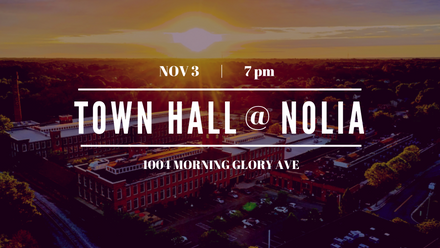 Recap from the Nov. 3 Town Hall at Nolia