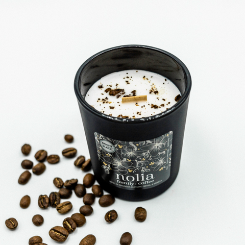 NOLIA x BRIGHT BLACK  |  Magnolia, Coffee, and Vanilla Scented Candle