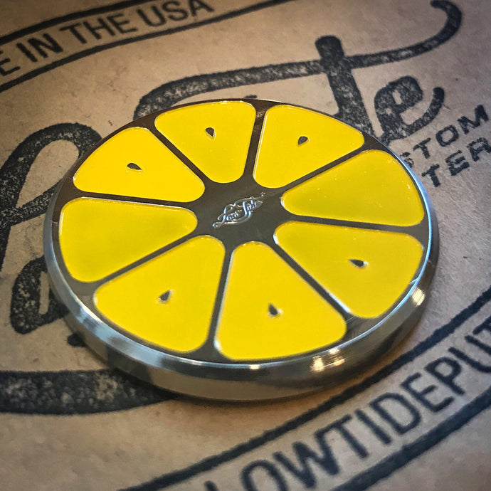 Lemon Slice *Summertime Series* Stainless Steel Ball Marker Coin