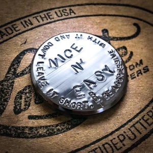Hand-Stamped Personalized Golf Ball Marker Coin