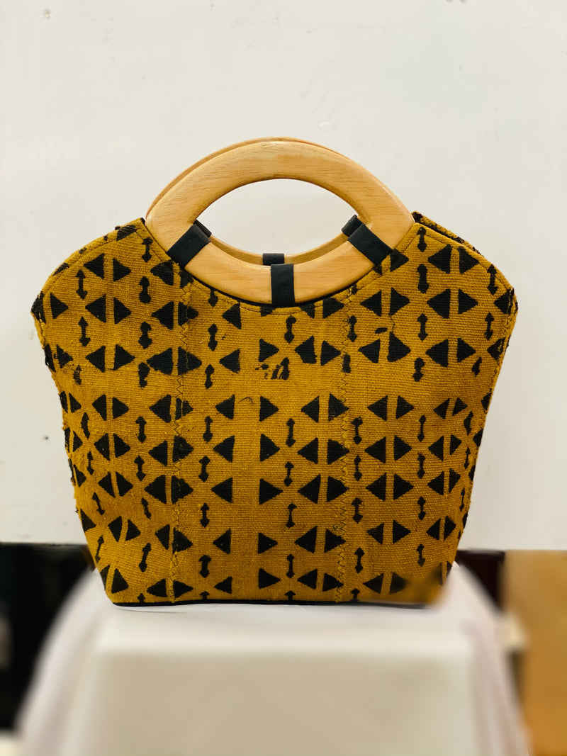 Telly Mudcloth handbag