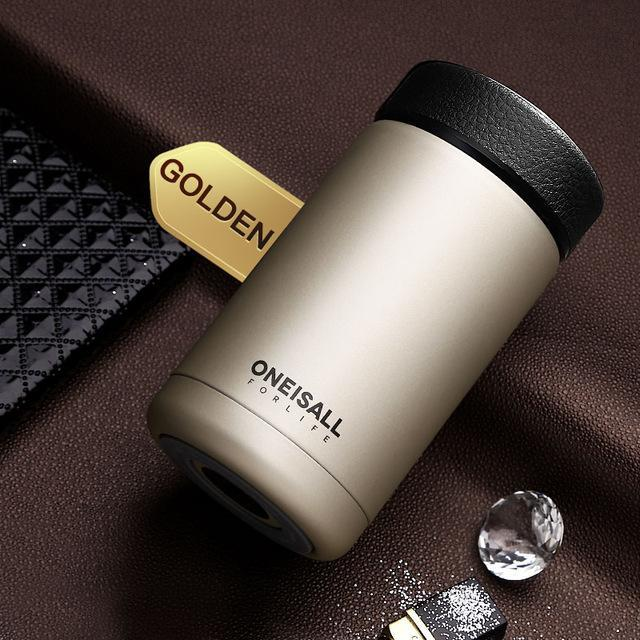 400ML Men Gift Thermos Cup Insulated Stainless Steel Thermo Mug with Tea Infuser