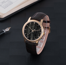 Load image into Gallery viewer, Amatsu Norito Kamiyomoji Design 30 Meters Waterproof Quartz Fashion Watch With Brown Genuine Leather Band
