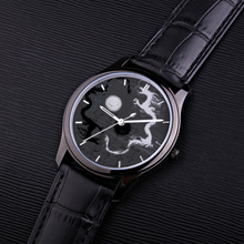 Load image into Gallery viewer, 30 Meters Waterproof Quartz Fashion Watch With Black Genuine Leather Band