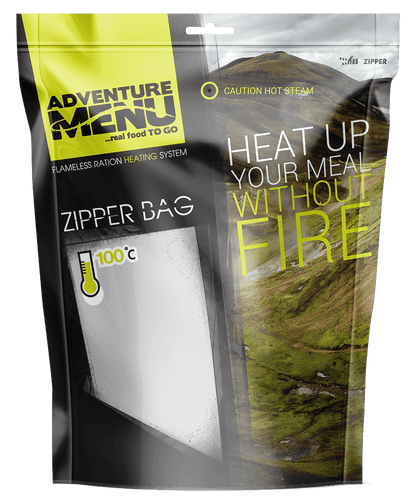 Adventure Menu, Self-heater ALLinONE (3x 20g + 2x 50g + zipper bag)