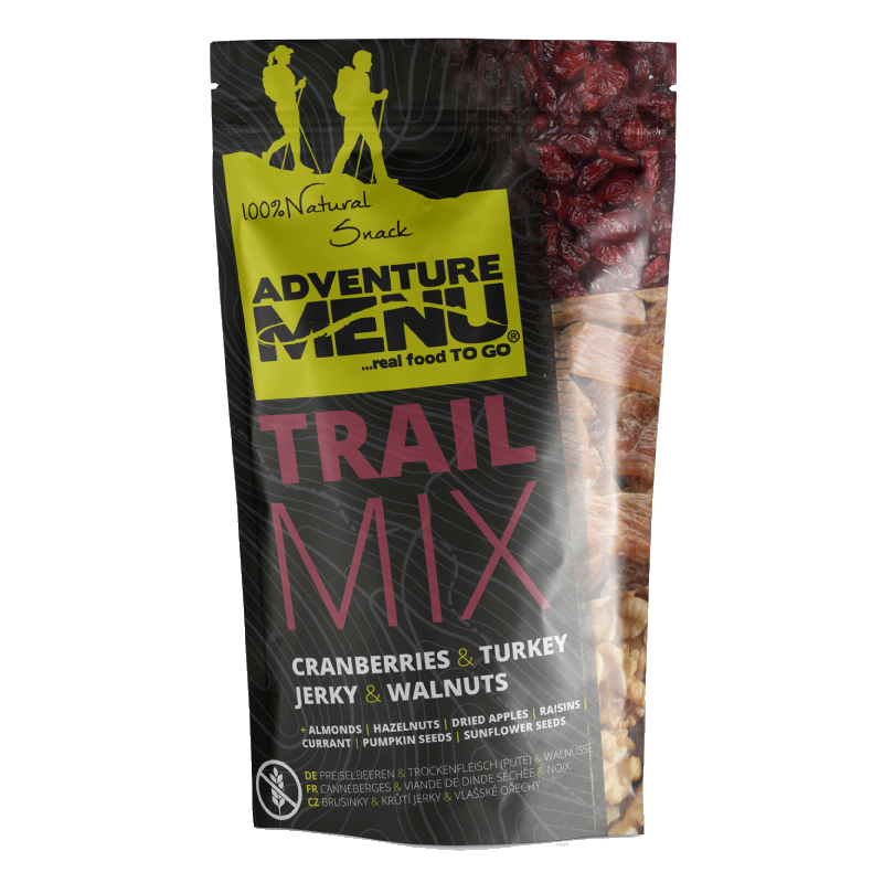 Adventure Menu, Trail Mix - Cranberry | Turkey JERKY | Walnuts
