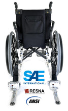 Load image into Gallery viewer, 4 QRT-360 Retractors with Slide 'N Click Fittings and Manual Lap & Shoulder Belt with L-Track Fitting | Q-8600-AP-SC - wheelchairstrap.com