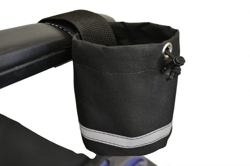 Mobility Device Unbreakable Cupholder – Horizontal Grip | A1327 - wheelchairstrap.com