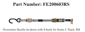 FE500 Wheelchair Overcenter Buckle Strap for L-Track - wheelchairstrap.com