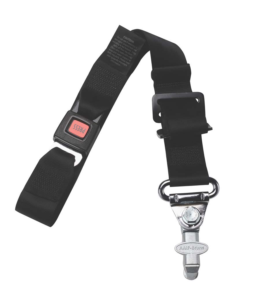 Front Static Belt With Loop & L-Track Fitting | H350510LV - wheelchairstrap.com