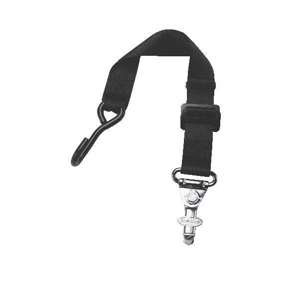 Front Static Belt With J-Hook & L-Track Fitting | H350535HV - wheelchairstrap.com