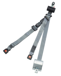 Automatic 3 Point Retractor with retractable height adjuster, L-track fittings | H370253 - wheelchairstrap.com