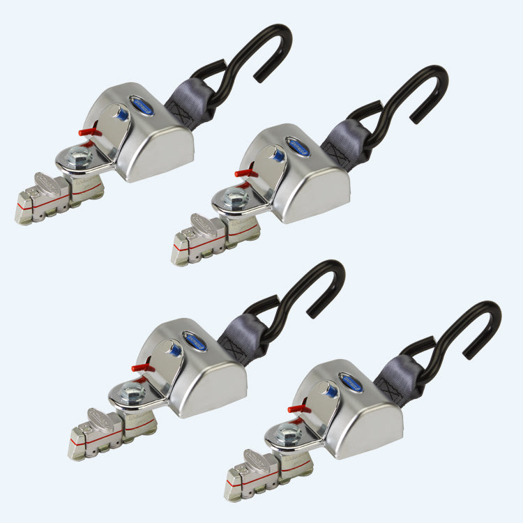 4 QRT Max Retractors with L-Track Fittings | Q-8301-L - wheelchairstrap.com