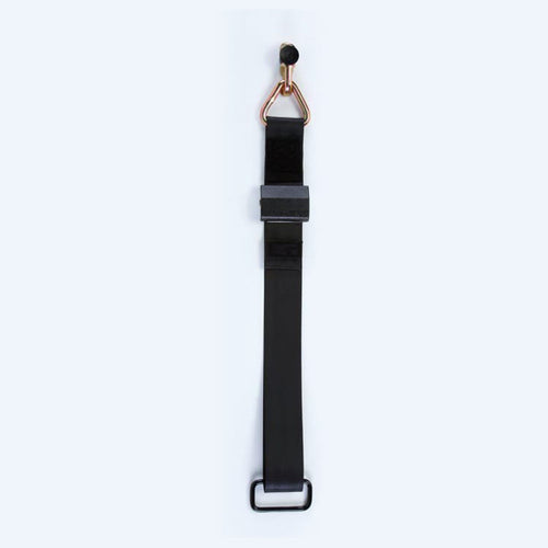 Height Adjuster Positioner Belt, Black with L-Track Fitting | Q5-6411-TS3 - wheelchairstrap.com