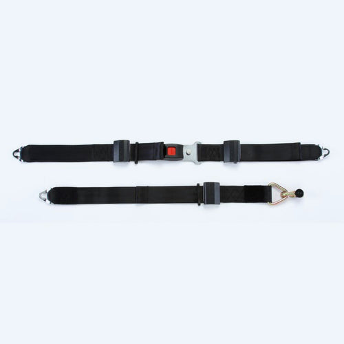 Combination Lap & Shoulder Belt with Manual Height Adjuster and Pin Connector | Q8-6325-AT - wheelchairstrap.com