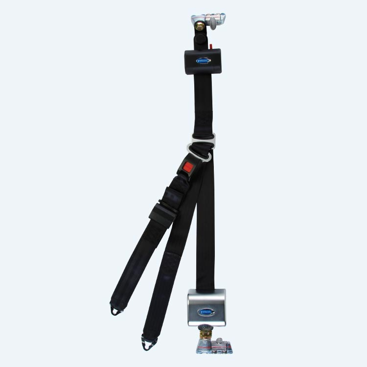Retractable Lap And Shoulder Belt Combo With Retractable Height Adjuster | Q8-6326-A1-HR131 - wheelchairstrap.com