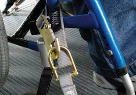 FE500 Wheelchair Cam Buckle Strap for L-Track - wheelchairstrap.com