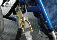 Load image into Gallery viewer, FE500 Wheelchair Overcenter Buckle Strap for L-Track - wheelchairstrap.com