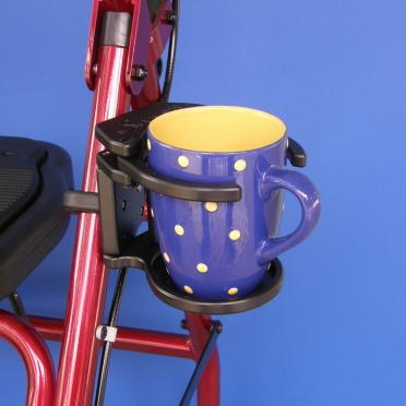 Adjustable Foldaway Drink Holder for Rolling Walker | A001P - wheelchairstrap.com