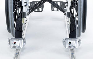 4 QRT-360 Retractors with L-Track Fittings and Manual Lap & Shoulder Belt with L-Track Fitting  | Q-8600-AT-L - wheelchairstrap.com