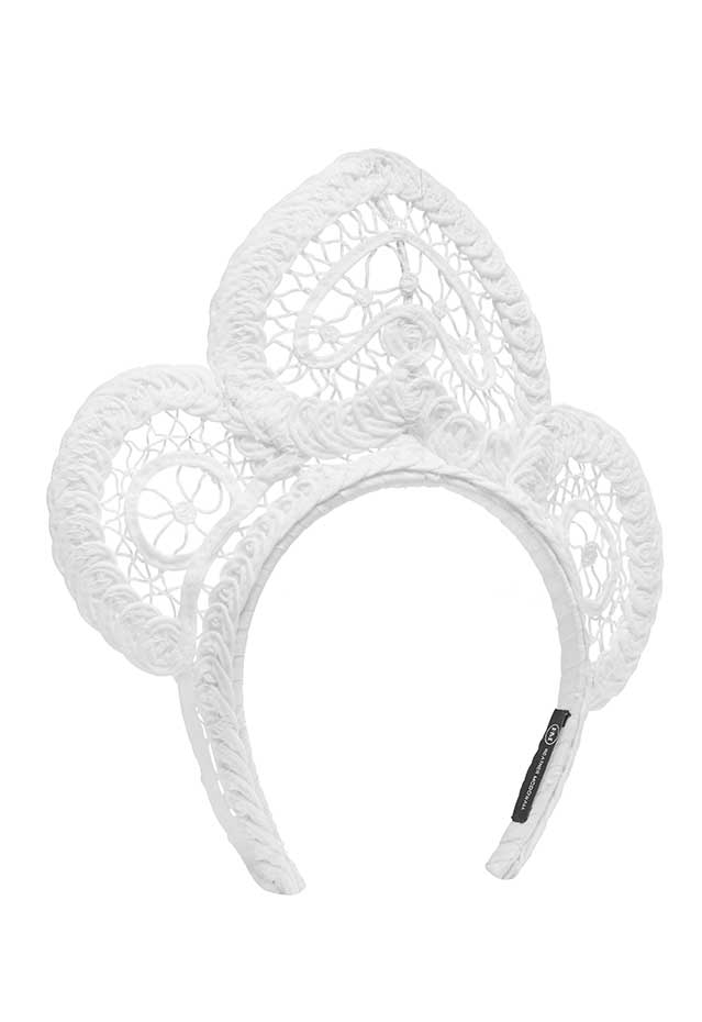 Meghan Lace Crown- White
