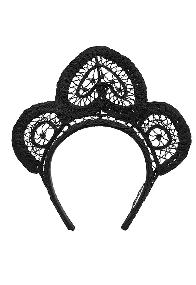 Meghan Lace Crown - Black