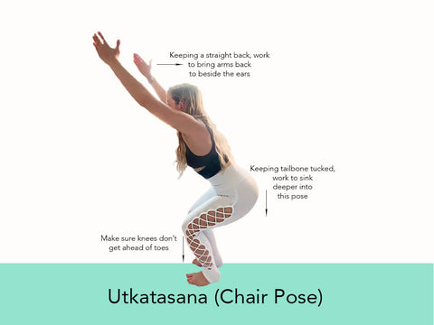 Yoga Balance Pose - Chair | My Yoga Essentials