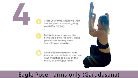 Eagle Arms Yoga Pose for Flexibility | My Yoga Essentials