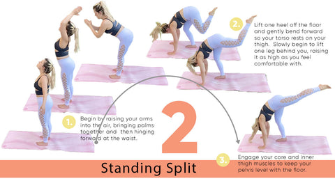 Yoga Poses for Strength - Standing Split | My Yoga Essentials