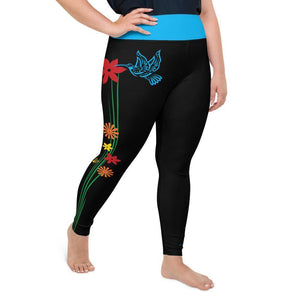 """Hummingbird"" Plus Size Leggings"