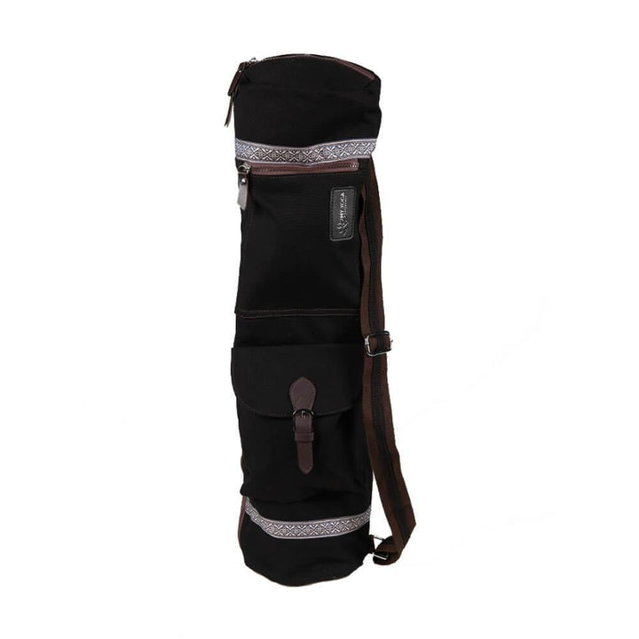 Bags Black Zippered Deluxe Yoga Mat Bag