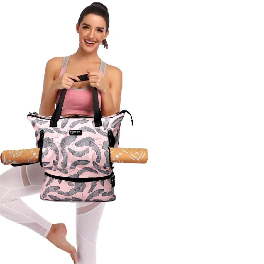 Bags Pink Feather Yoga Mat Bag