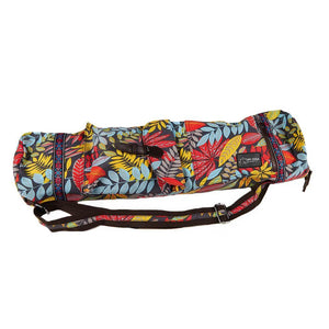 Bags Red Floral Zippered Deluxe Yoga Mat Bag
