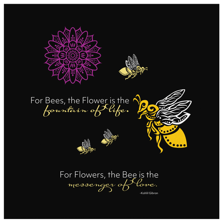 "Bumble Bee ""Messenger of Love"" Canvas Art"