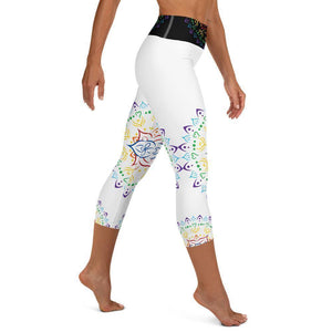 Capri Yoga Leggings - Mandala All Over